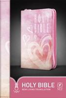 NLT Zip Bible Pink Hearts