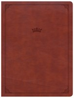 CSB Tony Evans Study Bible, British Tan LeatherTouch, Indexe (Imitation Leather)