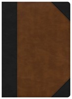 CSB Study Bible, Black/Tan LeatherTouch