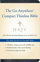 NRSV Go-Anywhere Compact Thinline Bible with Apocrypha (Bonded Leather)