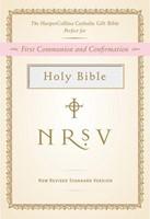 NRSV Catholic Gift Bible, White (Hard Cover)