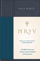NRSV Standard Catholic Edition Bible, Anglicized, Navy (Hard Cover)