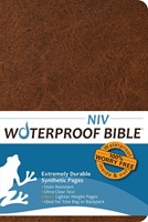 NIV Waterproof Bible, Brown (Paperback)