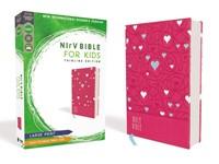 NIrV Bible for Kids, Pink, Large Print (Imitation Leather)