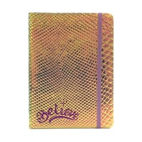 Iridescent Faux Crocodile Journal Believe (Hard Cover)