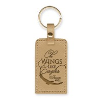 Leather Lux Keyring On Wings Like Eagles