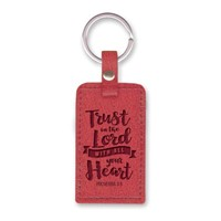 Leather Lux Keychain Trust in the Lord (Keyring)