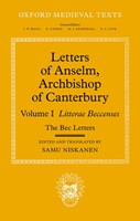 Letters of Anselm, Archbishop of Canterbury (Hard Cover)