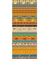 African Pattern Plastic Backdrop (Poster)