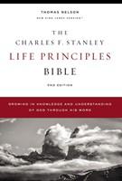 NKJV Charles Stanley Life Principles Bible, Comfort Print