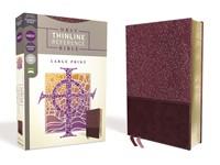 NRSV Large Print Thinline Reference Bible, Burgundy (Imitation Leather)