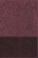 NRSV Large Print Thinline Reference Bible, Burgundy, Indexed (Imitation Leather)