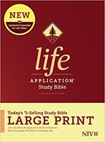NIV Life Application Study Bible, Third Edition, Large Print (Hard Cover)