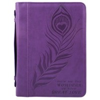 Bible Cover Great Love Imitation Leather, Large