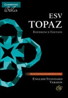 ESV Topaz Reference Bible, Black Goatskin Leather (Genuine Leather)