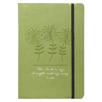 Flexcover Journal: Green/Ps 118:14 (Imitation Leather)
