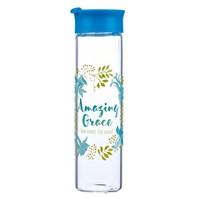 Glass Water Bottle: Amazing Grace