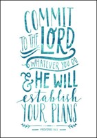 Commit to the Lord, Whatever You Do Mini Card