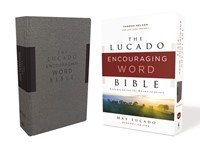NKJV Lucado Encouraging Word Bible, Gray