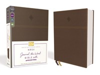 NRSV Journal the Word Bible with Apocrypha, Brown (Imitation Leather)