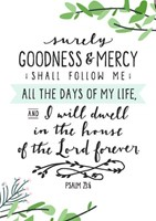 Surely Goodness and Mercy Mini Card