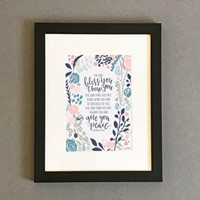 The Lord Bless You Framed Print, Black (7x5) (General Merchandise)