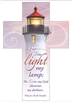 For You Light My Lamp Bookmark Cross (pack of 25)