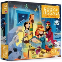 Book and Jigsaw: The Nativity