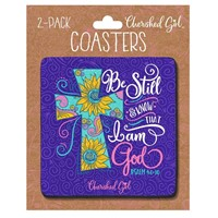 Be Still Cherished Girl Drink Coasters (2-pack)
