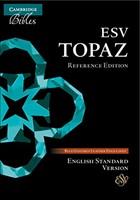 ESV Topaz Reference Bible, Dark Blue Goatskin Leather (Genuine Leather)
