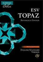 ESV Topaz Reference Bible, Cherry Red Calfskin Leather (Genuine Leather)