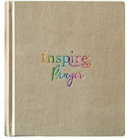 NLT Inspire PRAYER Bible, Hardcover, Metallic Gold