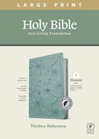 NLT Large Print Thinline Reference Bible, Filament Enabled E (Imitation Leather)
