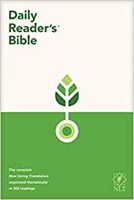 NLT Daily Reader's Bible (Red Letter, Hardcover) (Hard Cover)