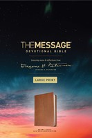 The Message Devotional Bible Large Print Brown