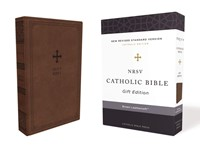 NRSV Catholic Bible, Brown, Comfort Print (Imitation Leather)