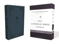 NRSV Catholic Bible, Teal, Comfort Print (Imitation Leather)