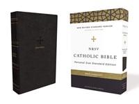NRSV Personal Size Catholic Bible, Black, Comfort Print (Imitation Leather)