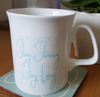 Stay Strong, Stay Long, Keep the Faith Bone China Mug (General Merchandise)