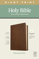 NLT Personal Size Giant Print Bible, Filament Edition, Brown (Imitation Leather)