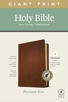 NLT Personal Size Giant Print Bible, Filament Edition, Brown (Genuine Leather)