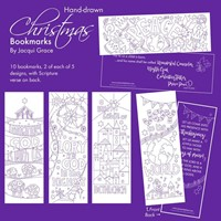 10 Christmas Colouring Bookmarks