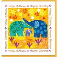 Elephant Birthday Greetings Card