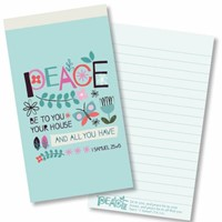 Peace Be to Your House Jotter Notepad (Paperback)
