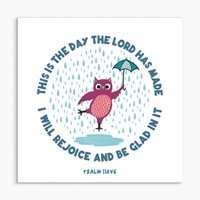 This is the Day (Owl) White Framed Print 6x6 (General Merchandise)