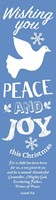 Wishing You Peace Bookmark (Pack of 10) (Bookmark)