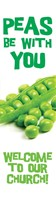 Peas Be With You Bookmark (Pack of 10) (Bookmark)