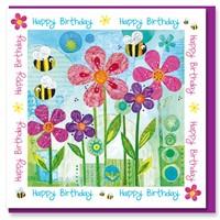 Birthday Bees Greetings Card