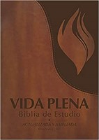 Vida Plena Biblia de Estudio, Flex Cover con Indice, Marrón (Imitation Leather)