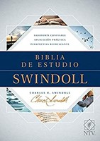 Biblia de estudio Swindoll NTV, Tapa dura, Azul (Hard Cover)